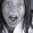 Stock Photo: Close Up Shot of Child Screaming
