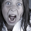 Close Up Shot of a Child Screaming — Stock Photo #2362670