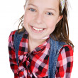 Pretty Brown Haired Child Smiling — Stock Photo