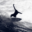 Surfer Riding the Waves — Stock Photo