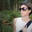 Brunette Lady Out for a Walk — Stock Photo #2363441