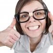Geeky Female - Foto Stock