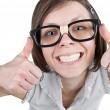 Geeky Female — Stock Photo