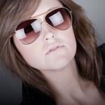 Stunning Brunette Teenager in Aviators — Stock Photo #2364195