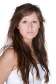 Beautiful Teenager with Long Brown Hair — Stock Photo