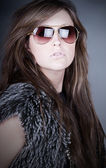 Attractive Teen in Aviator Shades — Stock Photo