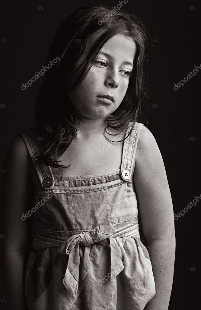 Powerful Low Key Shot of an Upset Young Girl — Stock Photo #2362866