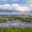Dnieper River and boat station. — Stock Photo #2259475