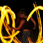 Lady Fire — Stock Photo #2369966