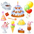 Royalty-Free Stock Vector Image: Birthday Set