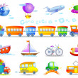 Types of transport — Imagen vectorial