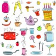 Meal and ware set - Stock Vector