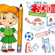 Royalty-Free Stock Vector Image: School doodles