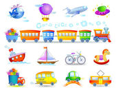 Types of transport — Stock Vector