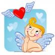 Stock Vector: Cupid in love.