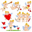 Cartoon cupids - Stock Vector