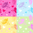 Seamless Vector Valentine pattern - Stock Vector