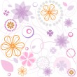 Royalty-Free Stock Vector Image: Abstract flower pattern