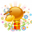 Funny Ox — Stock Vector