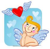 Cupid i kärlek. — Stockvektor