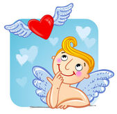 Cupid in love. — Vector de stock
