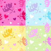 Seamless Vector Valentine pattern — ストックベクタ