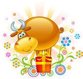 Grappige ox — Stockvector