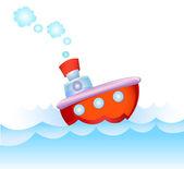 Steamship in love — Stock Vector