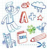Set of doodles — Stock Vector