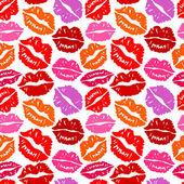 бесшовный фон с поцелуями — Cтоковый вектор