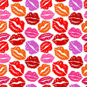 Küsse nahtlose hintergrund — Stockvektor