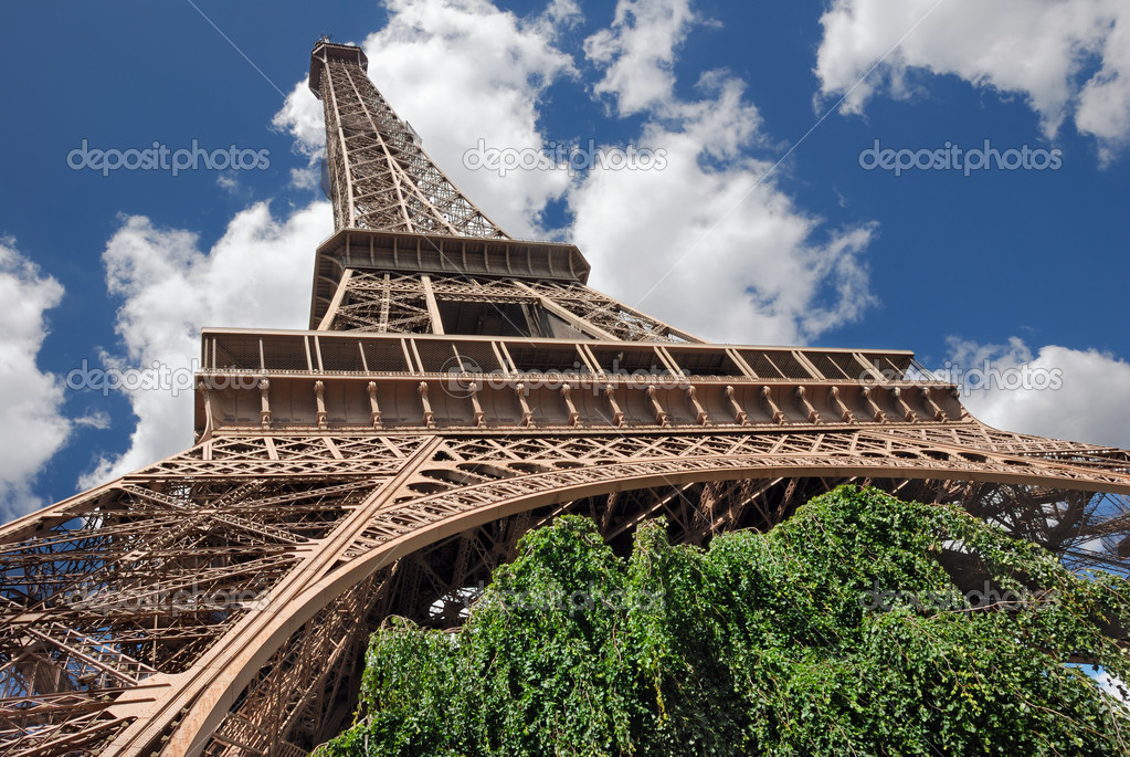 The Eiffel Tower with tree in Paris, France. — Stock Photo #2163821