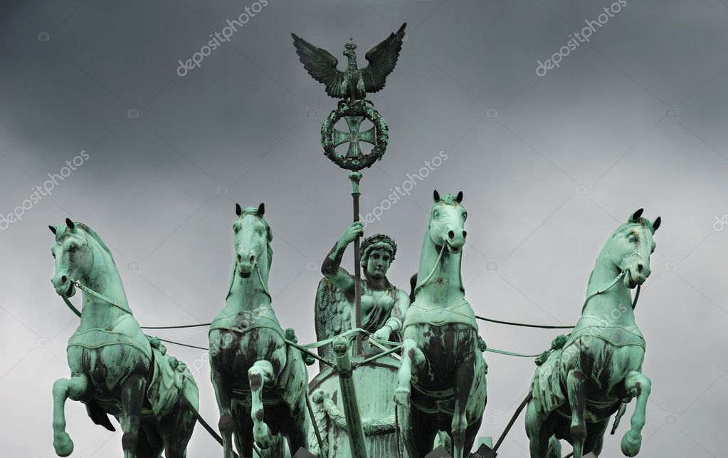 The Quadriga on the Brandenburg gate, Berlin, Germany. — Stock Photo #2366651