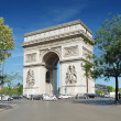 The Triumphal Arch (Arc de Triomphe) in Paris, France. — Stock Photo #2598633
