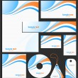 Stockvektor : Letterhead template design
