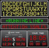 Vector electronic alphabet — Stock Vector