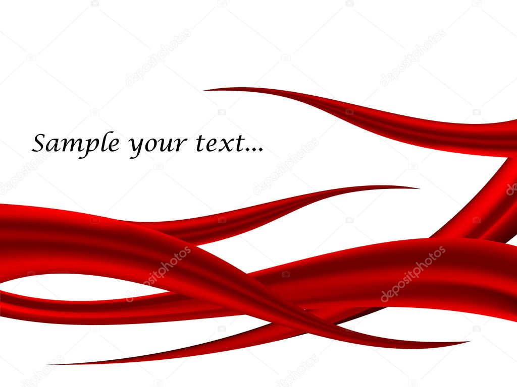Red Abstract Background Vector Free Red Wave Vector Abstract