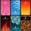 Royalty-Free Stock Imagen vectorial: Set of colorful business cards (set 2)