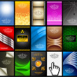 Business cards (set 10) - Imagen vectorial