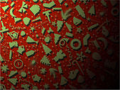 Vector seamless set christmas symbol — Stock Vector