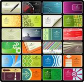 визитные карточки (набор 8) — Cтоковый вектор