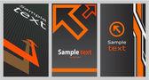 Business card (set 15) — Stock Vector