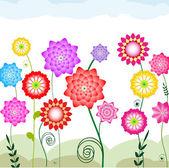 Flowerbed — Stock Vector