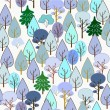 Royalty-Free Stock Vector Image: Winter forest. Seamless