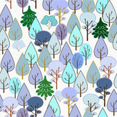 Winter forest. Seamless — Stock Vector