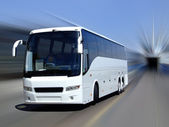 White coach in motion — Stock Photo