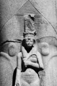 B&W karnak temple statue 02 — Stock Photo