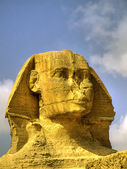 Sphinx head HDR — Stock Photo