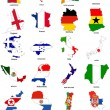 Stock Photo: 2010 world cup flag maps