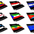 World flag book collection 09 — Stock Photo